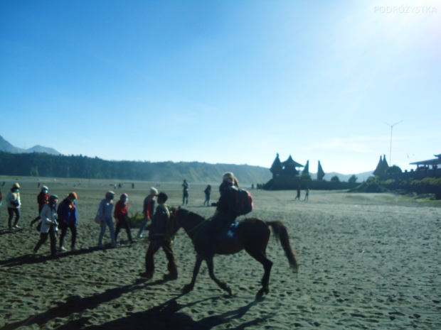 Indonezja, wyspa Java, okolice wulkanu Bromo, siedzę na koniu!