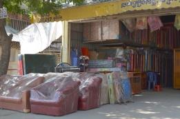 Kambodża, Phnom Penh, sklep z materacami i sofami