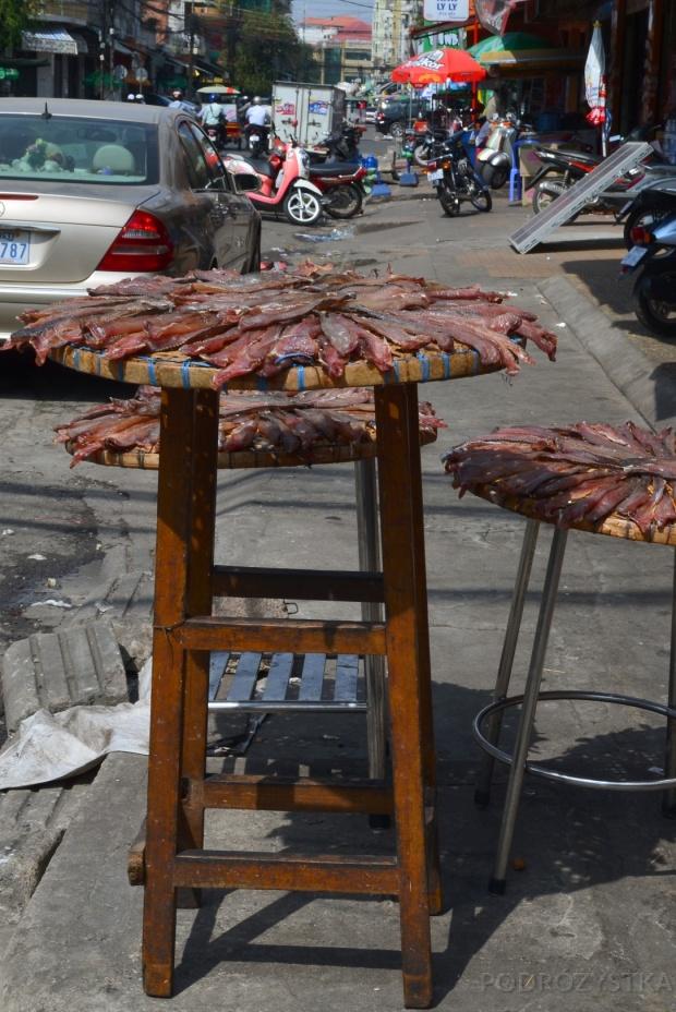 Kambodża, Phnom Penh, mięsko, świeżo suszone