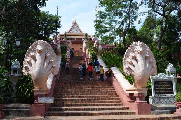 Kambodża, Phnom Penh, świątynia Wat Phnom