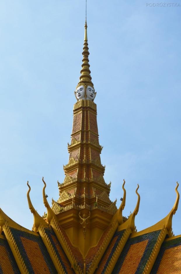 Kambodża, Phnom Penh, kompleks Pałacu Królewskiego, Budda na 4 strony świata