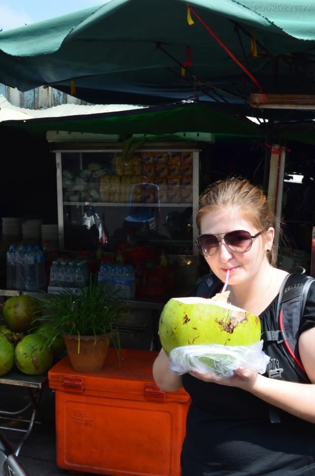Kambodża, Phnom Penh, świeży kokos