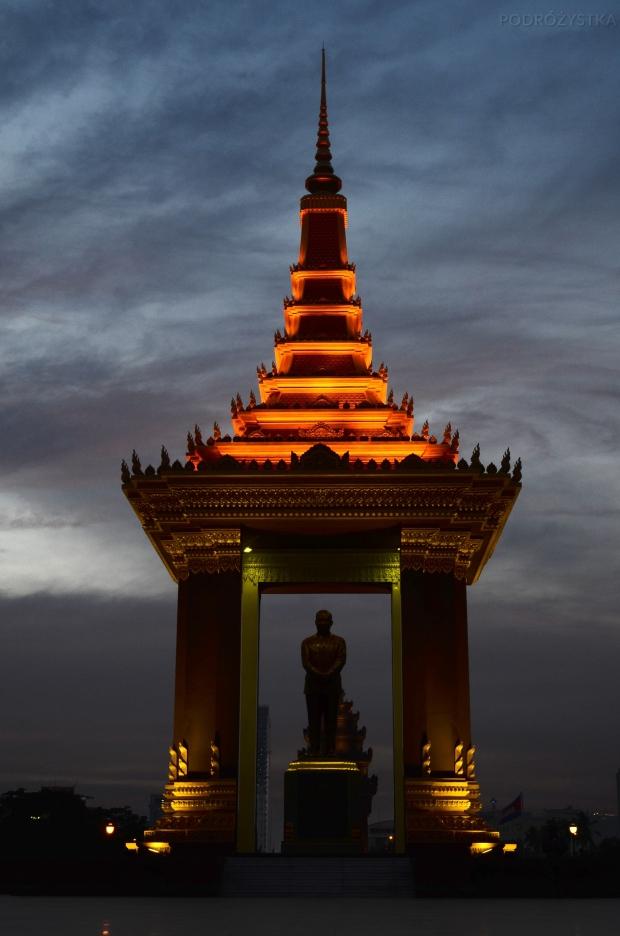Kambodża, Phnom Penh, statua Lady Penh