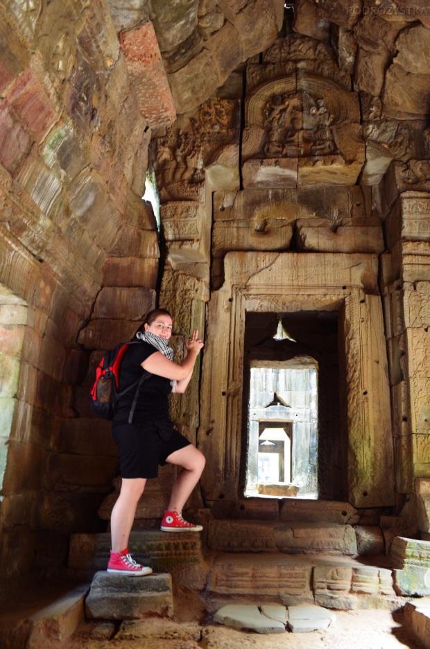 Kambodża, Siem Reap, ruiny w Preah Khan, prawie jak Lara Croft