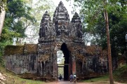 Kambodża, Siem Reap, brama wjazdowa do Angkor Thom