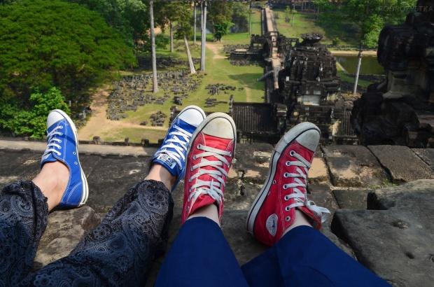 Kambodża, Siem Reap, świątynia Baphoun - i gdzie Cię nogi poniosą!