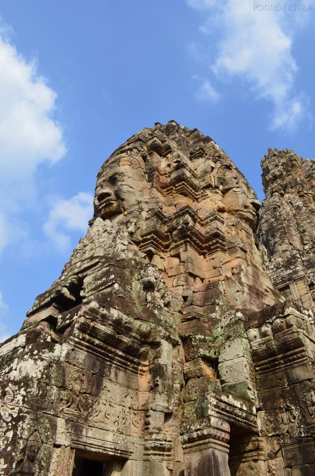 Kambodża, Siem Reap, Bayon, Budda na 4 strony świata