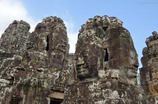 Kambodża, Siem Reap, Bayon, Budda, wszędzie Budda
