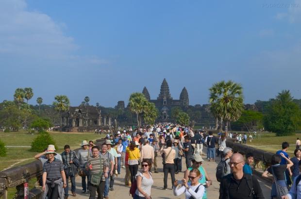 Kambodża, Siem Reap, Angkor Wat, podejście drugie - w tył zwrot!
