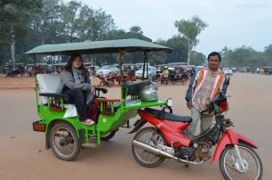 Kambodża, Siem Reap, Angkor Wat, tuk tuk
