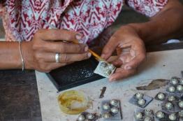 Indonezja, wyspa Bali, manufaktura biżuterii ze srebra