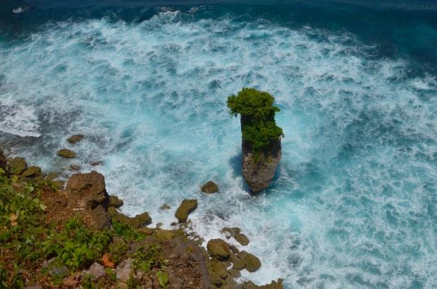Indonezja, wyspa Bali, widok z klifu w okolicy Uluwatu