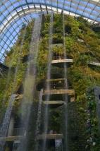 Singapur, Gardens by the Bay, Cloud Forest, wodospad