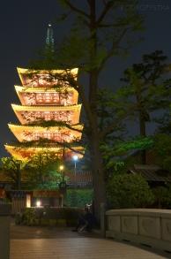 Japonia, Tokio, Senso-ji, 5-piętrowa pagoda