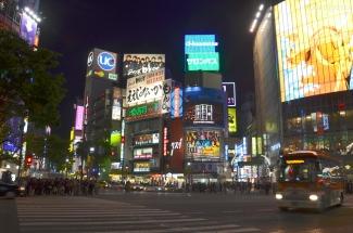 Japonia, Tokio, skrzyżowanie w dzielnicy Shibuya
