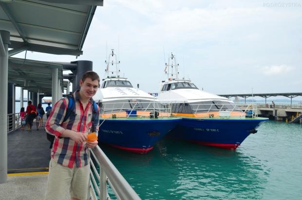 Singapur, wyspa Kusu, Marina South Pier - w drogę!