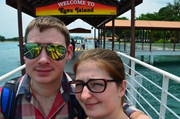Singapur, wyspa Kusu, selfie z rączki - uczymy się!