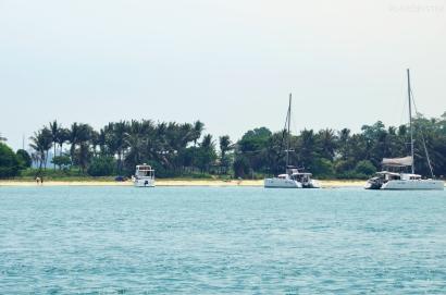 Singapur, wyspa Kusu, można przypłynąć własnym jachtem