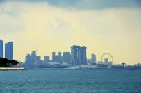 Singapur, wyspa Kusu, widok na Marinę Bay
