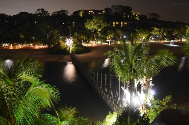 Singapur, Sentosa, widok z wysepki na Palawan Beach