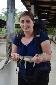 Birma, Yangon, Farma Krokodyli, o mamo! trzymam krokodyla! :o