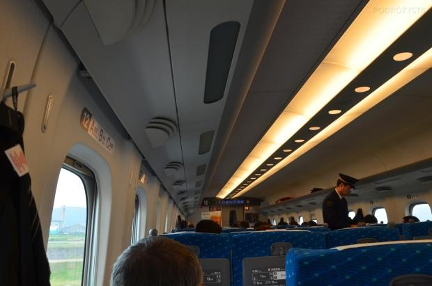 Japonia, przedział pociągu Shinkansen