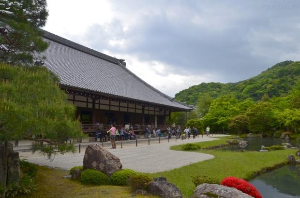 Japonia, Kyoto, Arashiyama, kompleks Tenryu-ji, ogród Zen
