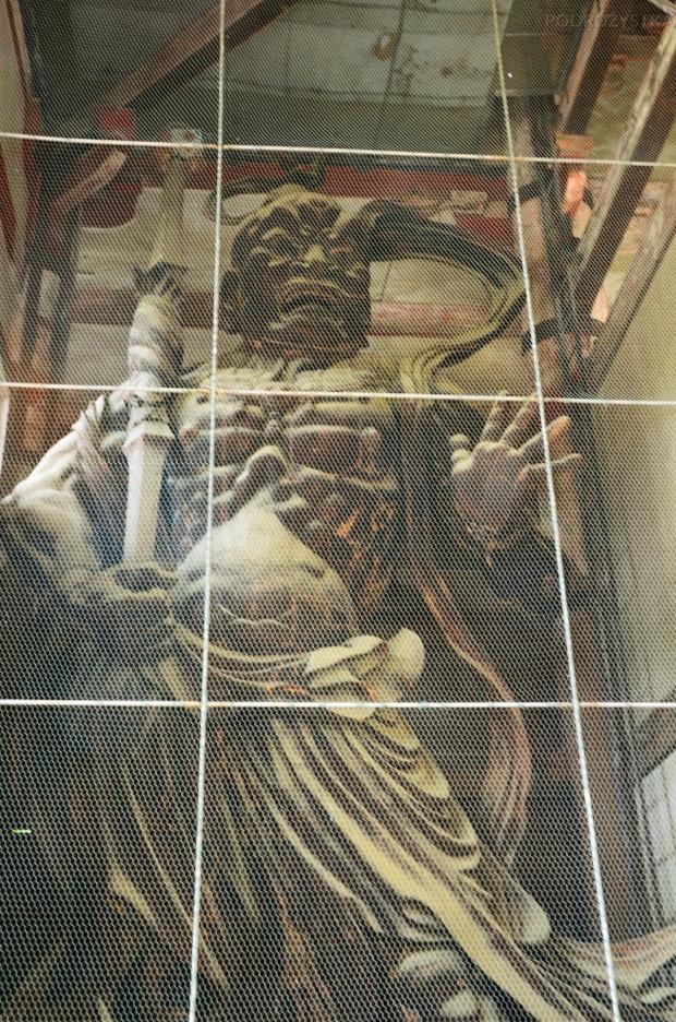 Japonia, Nara, kompleks Todai-ji, strażnik Nio, wyrzeźbiony w XIII wieku