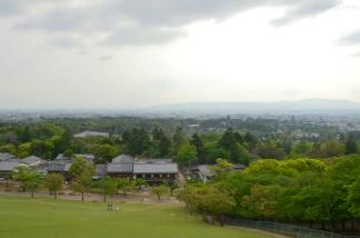 Japonia, Nara, widok ze wzgórza Wakakusayama