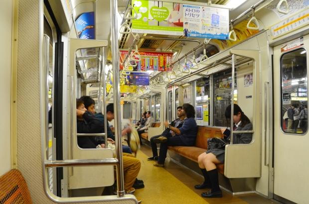 Japonia, Tokio, reklamy w metrze