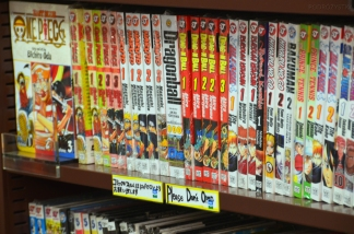 Japonia, księgarnia z komiksami