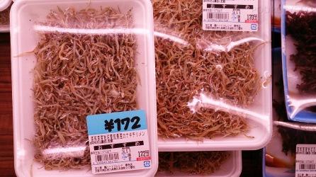 Japonia, małe rybki, dodawane często jako posypka do zup
