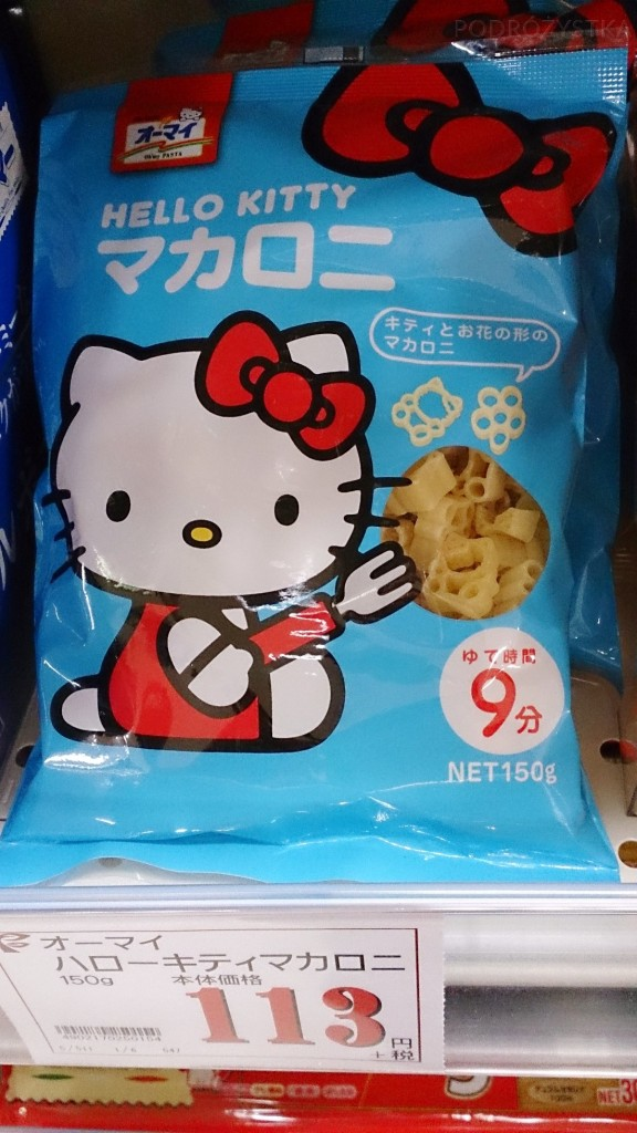 Japonia, makaron Hello Kitty