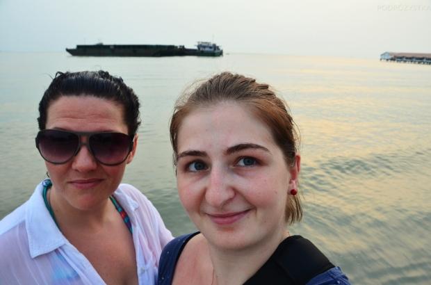 Malezja, Port Dickson, plaża Pantai Tanjung Gemok, Polacy są wszędzie, pozdrawiam Aniu!