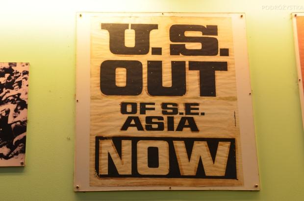 Wietnam, Ho Chi Minh City (Sajgon), War Remnants Museum - Muzeum Pozostałości Wojennych, poster