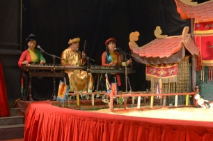 Wietnam, Ho Chi Minh City (Sajgon), muzycy Water Puppet Show