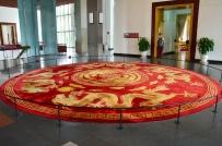 Wietnam, Ho Chi Minh City (Sajgon), Reunification Palace - Pałac Niepodległości/Zjednoczenia, stylowy dywan
