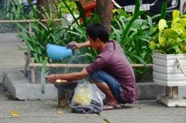 Wietnam, Ho Chi Minh City (Sajgon), jedzenie bardzo uliczne