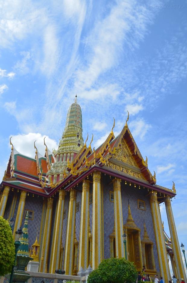 Tajlandia, Bangkok, Grand Palace - Pałac królewski, teren świątyni Wat Phra Kaew, Prasat Phra Thep Bidon - królewski panteon