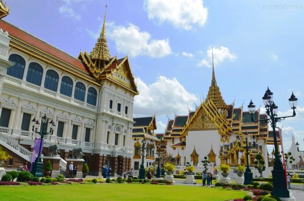 Tajlandia, Bangkok, Grand Palace - Pałac królewski, kompleks Phra Thinang Chakri Maha Prasat do przyjmowania królewskich gości