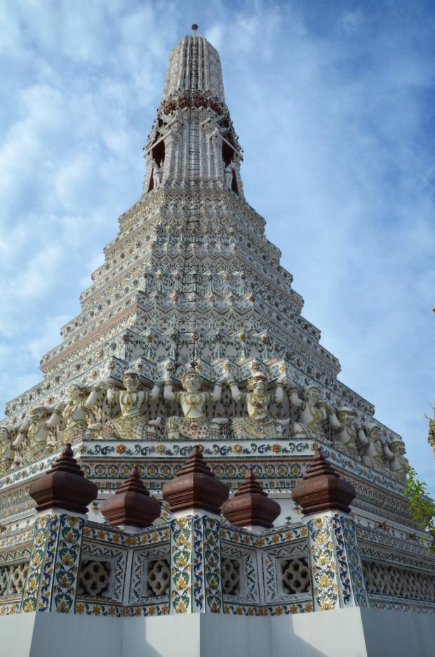 Tajlandia, Bangkok, świątynia Wat Arun, jedna z czterech prang