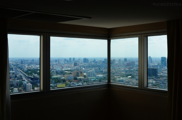 Tajlandia, Bangkok, Baiyoke Sky Hotel, widok z okna