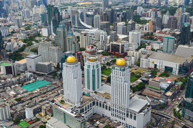 Tajlandia, Bangkok, Baiyoke Sky Hotel, panorama z tarasu widokowego
