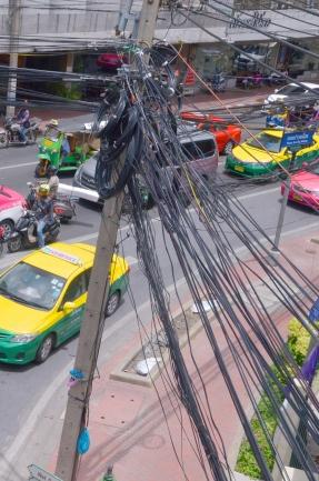Tajlandia, Bangkok, koszmar elektryka