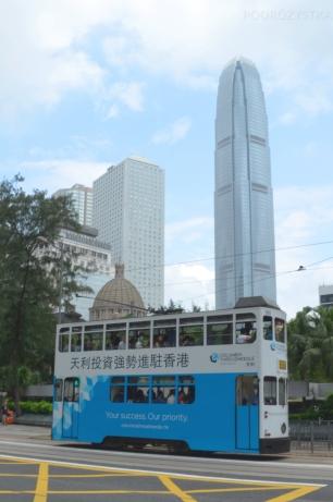 Chiny, Hong Kong, piętrowe tramwaje!
