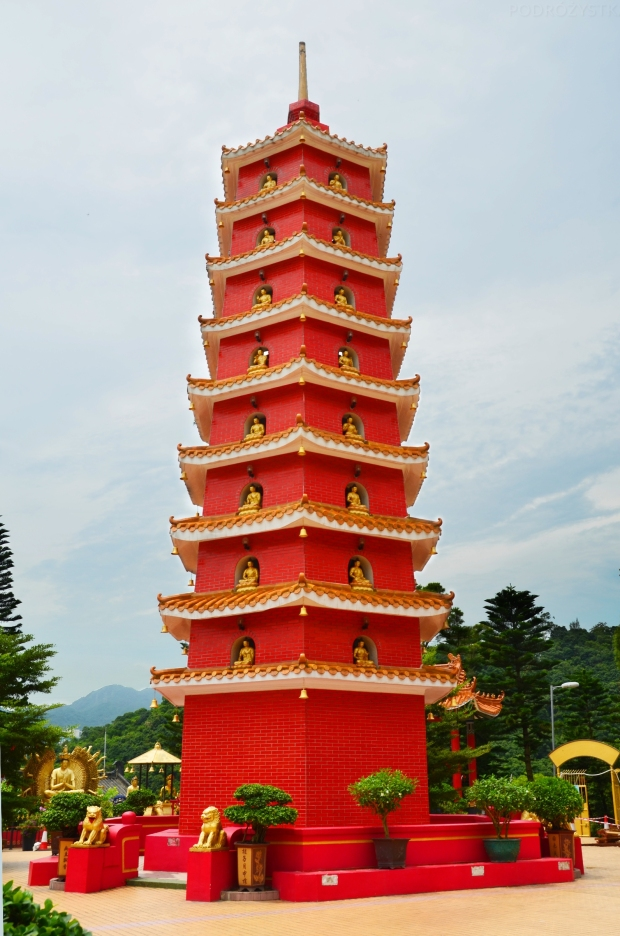 Chiny, Hong Kong, Ten Thousand Buddhas Monastery, Klasztor 10 Tysięcy Buddów, pagoda