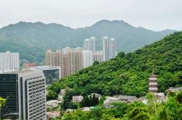 Chiny, Hong Kong, Ten Thousand Buddhas Monastery, Klasztor 10 Tysięcy Buddów, widok na miasto
