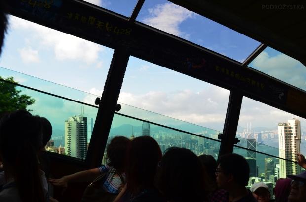 Chiny, Hongkong, wjazd Peak Tram na Victoria Peak - kolejką na szczyt Wiktorii