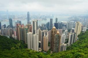 Chiny, Hongkong, widok na miasto z Victoria Peak