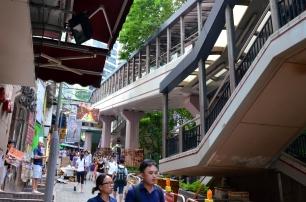 Chiny, Hongkong, Mid-Level Escalator czyli piętrowe chodniki